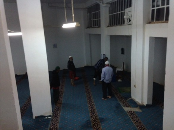 A semi-secret mosque in the center of the city. Muslims from different countries gather here. Mosques are illegal in Greece. This one opened after years of fighting with the officials. Finally, it was granted, but only underground.