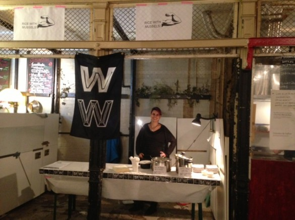 Our stall in the Markthalle Neun.