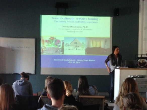 Lecture on cultural-specific housing.